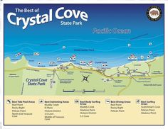 Crystal Cove State Park map, California.