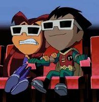 Teen Titans Robin and Starfire cute