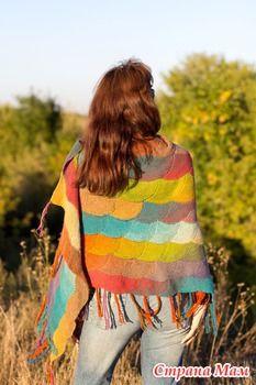 Шаль осенняя, теплая, из дундаги, красивая и долгая...))) - Вязание - Страна Мам