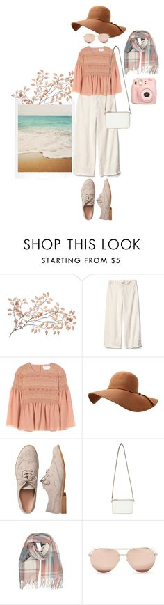 """""""Hijab Traveller On The Beach"""" by aisyafaj ❤ liked on Polyvore featuring Gap, See by Chloé, Miss Selfridge, Linda Farrow and Fujifilm"""