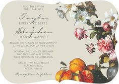 lush life wedding invite