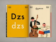 Love the mid-century inspired design in this hungarian alphabet project.