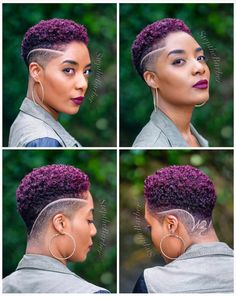 Click the link below to read about top tapered haircuts for women in – Tapered Hair Cut Purple Natural Hair, Natural Hair Short Cuts, Short Natural Haircuts, Tapered Natural Hair, Short Hair Cuts, Natural Hair Styles, Short Hair Styles, Short Fade Haircut, Natural Hair Updo