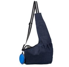 Pet Sling Carrier for Small Dogs,Hands-free Reversible Travel Outdoor under 5 lb,Fit Mens and Womens,Black and Blue(L)  Free Collapsible Bowl -- Want to know more, click on the image. (This is an affiliate link and I receive a commission for the sales)