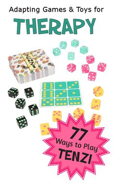77 Dice Games in one box. Occupational Therapist, Physical Therapist, Therapy Games, Speech Therapy, Dice Games, Speech And Language, Fine Motor Skills, Social Skills, Pediatrics
