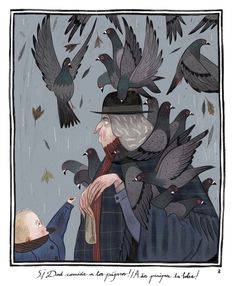 P. L. Travers' Mary Poppins illustrated by Júlia Sardà - the pigeon lady!