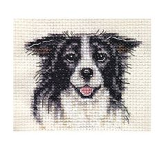 BORDER-COLLIE-dog-Full-counted-cross-stitch-kit-all-materials
