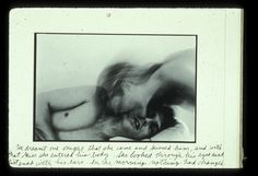 "Duane Michals, Person to Person, 10 of ""He dreamt one night that she came and kissed him, and with that kiss she entered his body. She looked through his eyes and listened with his ears. In the morning nothing had changed. Into The Woods, Artistic Photography, White Photography, Photography Ideas, Lise Sarfati, Duane Michals, Photo Sequence, Photoshop, Writing Poetry"