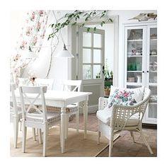 INGATORP Ruokapöytä, jatkettava, valkoinen - IKEA