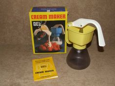 Bel Cream Maker Yellow Boxed With Instructions Retro