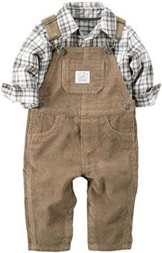 Amazon.com: Carter's Baby Boys' 2 Piece Overall Set-Khaki: Clothing