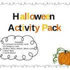 This freebie is intended to be a fun way to review language skills based around a Halloween theme!