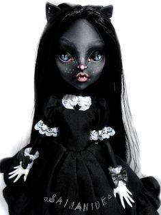 monster high repaint custom doll ooak Catty Noir by Saijanide