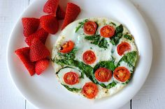 Spinach and Egg White Omelet by eat-yourself-skinny #Egg_White #Spinach #Omelet #Healthy