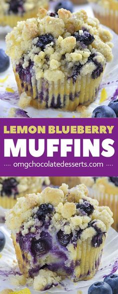 Lemon Blueberry Muffins with streusel crumb topping is the best BREAKFAST IDEA to MAKE AHEAD and grab ON THE GO on a busy morning. # Food and Drink ideas mornings Lemon Blueberry Muffin with Streusel Crumb Topping Muffin Recipes, Baking Recipes, Dessert Recipes, Simple Muffin Recipe, Lemon Muffins, Blueberries Muffins, Greek Yogurt Recipes, Think Food, Blueberry Recipes