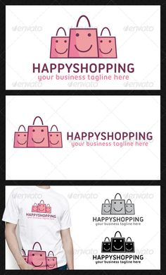 Happy Shopping Logo Template - Objects Logo Templates
