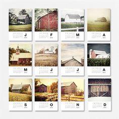 rustic barn landscape gift calendar 2013