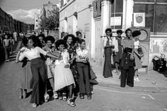 A Group of girls on the corner of Tavistock Crescent in 1975