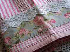 Shabby Chic Victorian Dreams- pink, white and grey theme towel. by Decorative Towels - Created by Cath., via Flickr