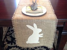 Silhouette Project Idea: Easter Bunny Table Runner (Pier 1 Knockoff) ~ Silhouette School