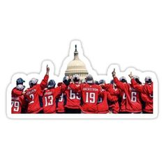 'Washington Capitals Stanley Cup Championship Parade Photo Sticker' Sticker by kararoberts Washington Capitals Stanley Cup, Caps Hockey, Sticker Design, Stickers, Christmas Ornaments, Holiday Decor, Things To Sell, Christmas Jewelry, Christmas Decorations