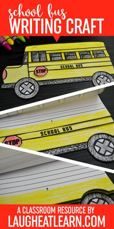 School is one of the best experiences in a child's life! Now you can celebrate the beginning of a new chapter with your students by having them write using these fun and simple writing craftivities! This school bus craft is especially perfect for all your back to school activities!