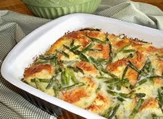 Asparagus and Cheese Bread Pudding - try this with your favorite cheese.  Works for brunch or as a great side.