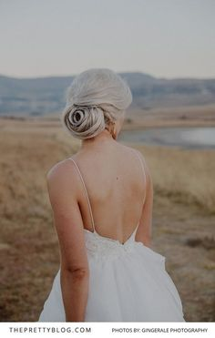 They Were Married in The Clarens Mountains - Hair Styles Let's Get Married, Getting Married, Bridal Make Up, Bridal Hair, Down Hairstyles, Wedding Hairstyles, Wedding Beauty, Beautiful Gowns, Real Weddings