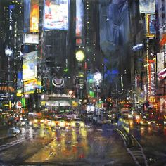 7th and Broadway by Mark Lague Oil ~ 48 x 48
