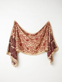 Free People Embroidered Dahlia Scarf, $39.95