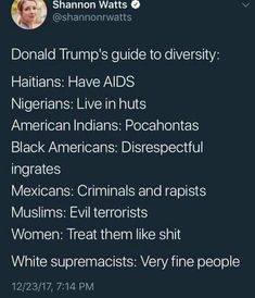 Donald Trump's guide to diversity