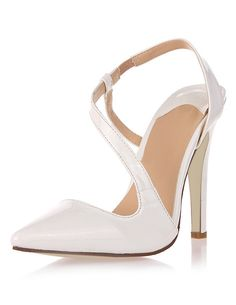 Heels I LOVE! Attractive and Sexy White Pointed Toe Stiletto Heels! #White #Stiletto_Heels #Summer #High_Heels