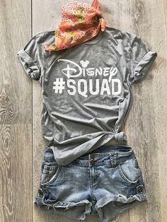 Disney Squad. Disney Team. Disney Inspired T Shirt. Unisex Fit Shirt. Disney T Shirt. Disney Trip Disney T Shirt.