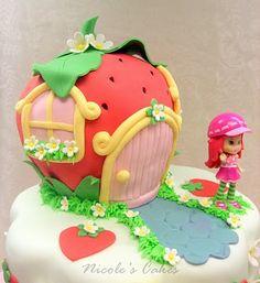On Birthday Cakes: A Berry Beautiful Strawberry Shortcake Birthday Cake!