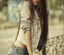 Inspiring picture brunette, girl, hair, shorts. Resolution: 402x604 px. Find the picture to your taste!