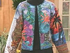Jacket made from a sweatshirt & quilted   ~  how-to .......it's about the how-to