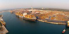 The port of Gioia Tauro