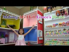 ▶ Making a Simple Dollhouse for American Girl Doll Grace - YouTube