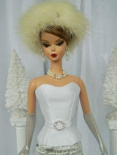 Holiday Fashion for Silkstone/Vintage Barbie & Fashion Royalty dolly by Joby Originals