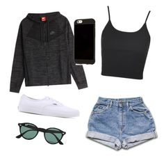"""Untitled #179"" by guls on Polyvore featuring NIKE, Topshop, Vans and Ray-Ban"