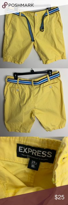bc2dfb0de66e Men s Express Flat Front Shorts w  Belt Get them before summer hits. These  will