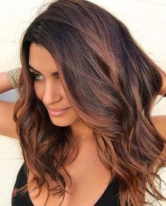 99 outstanding brunette shades of dark hair ideas to get you as fast as . - 99 outstanding brunette shades of dark hair ideas to try as soon as possible - Brown Hair Balayage, Brown Hair With Highlights, Brown Blonde Hair, Brunette Hair, Ombre Hair, Burgundy Balayage, Summer Brunette, Chestnut Brown Hair, Long Brunette