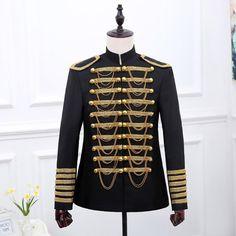 Mens Black Gold Sequins Blazer Jacket 2018 Nightclub Bar Dance Prom Suit  Blazer Men Party Stage Singer Costume Blazer Masculino. Singer Costumes ... ed28821a1a6e
