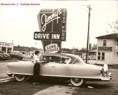 Car hops, drive-in theaters and old cars. Description from pinterest.com. I searched for this on bing.com/images