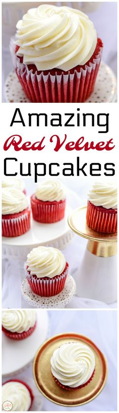 Red Velvet Cupcakes are not hard to make at all. My cream cheese frosting crowns these cupcakes perfectly. This is my favorite cupcake of all!
