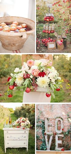 Apple Orchard party ideas http://www.theperfectpalette.com/2014/09/apple-orchard-wedding-inspiration.html