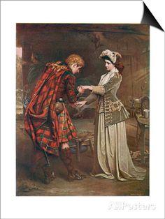 Prince Charles Edward Stuart Bids Farewell to Flora Macdonald Who Aided His Escape Kunstdrucke von Andre & Sleigh bei AllPosters.de