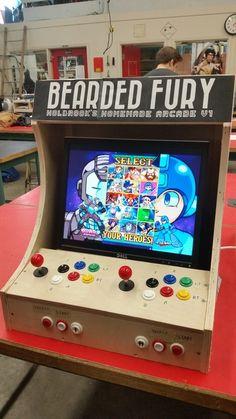 Plans for building a bartop arcade system using a Raspberry Pi - Moy - Retropie Arcade, Arcade Bartop, Arcade Joystick, Arcade Games, Arcade Room, Arcade Cabinet Plans, Retro Pi, Borne Arcade, Diy Tech