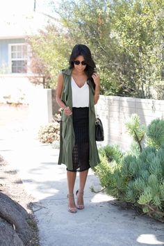 how to wear long vest, pursuit of shoes, chloe bag