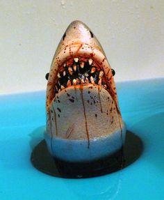 Shark Tub Drain Stopper Novelty Item Plastic by LittleHorrorHouse, $39.99